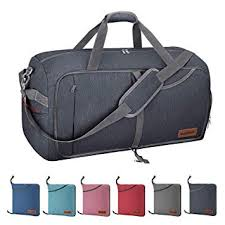 Canway 65L Travel Duffel Bag, Foldable Weekender Bag with Shoes Compartment for Men Women Water-proof & Tear Resistant…